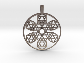 Etheric Reflector (Domed) in Polished Bronzed Silver Steel