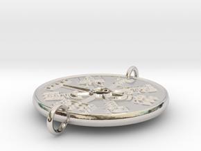Vegvisir Bracelet Face in Rhodium Plated Brass