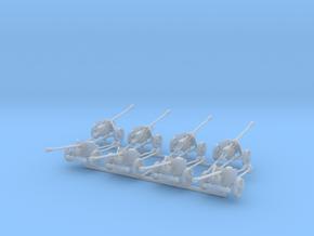 1/160 n-scale Pak40 anti tank gun set of 8 in Smooth Fine Detail Plastic
