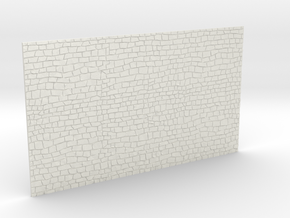 HOF002 - Wall in rubble stone in White Natural Versatile Plastic