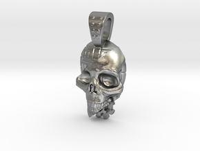 skull meca in Natural Silver