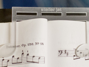 Strong and Heavy Music Book Page Holder in Transparent Acrylic
