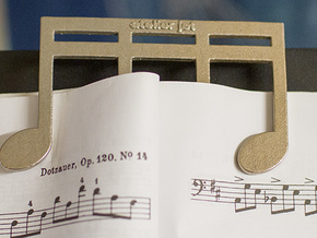 Strong and Heavy Music Book Page Holder in Polished Bronzed Silver Steel
