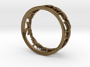 Palm Tree Ring in Raw Bronze: 7.5 / 55.5