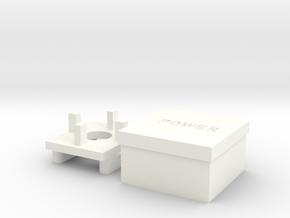 Apple II+ Power Cap in White Processed Versatile Plastic
