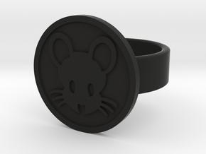 Mouse Ring in Black Natural Versatile Plastic: 8 / 56.75