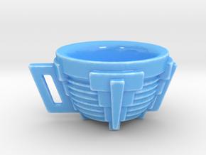 Modern Tea Cup in Gloss Blue Porcelain