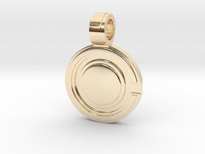 Cyborg pendant in 14K Yellow Gold