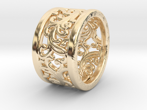 Plants Ornament Ring size 6 in 14K Yellow Gold