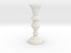 Candle Stick in White Natural Versatile Plastic