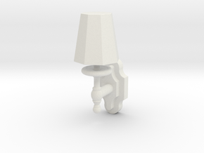 Single Wall Lamp in White Strong & Flexible