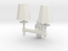 Double Wall Lamp in White Natural Versatile Plastic