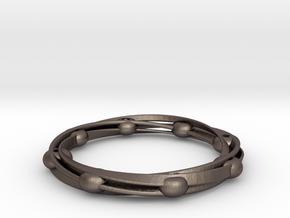 cOSMOS in Polished Bronzed Silver Steel: Medium