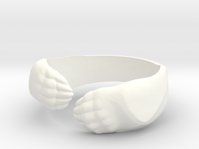 Big Bear Hug ring in White Processed Versatile Plastic: 5.5 / 50.25