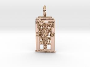 Whovian Semicolon Pendant in 14k Rose Gold Plated Brass