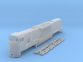 TT Scale U50c in Smooth Fine Detail Plastic