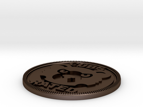 Cubs Rated Badge in Polished Bronze Steel