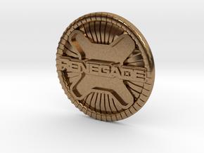 renegade badge in Natural Brass