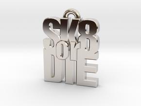 """""""SK8 or DIE"""" earring in Platinum"""