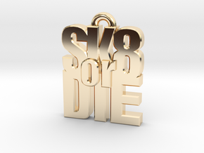 """SK8 or DIE"" earring in 14k Gold Plated Brass"