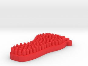Foot Massager 3D Printed  in Red Processed Versatile Plastic