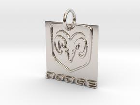 Dodge Pendant in Platinum