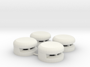 15 mm Round Bunker x4 (1) in White Natural Versatile Plastic