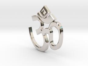 """""""Om sweet Om"""" earring in Rhodium Plated Brass"""