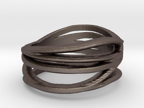 My Awesome Ring Design Ring Size 7.5 in Polished Bronzed Silver Steel