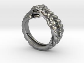 Crocodile Ring in Natural Silver: Small