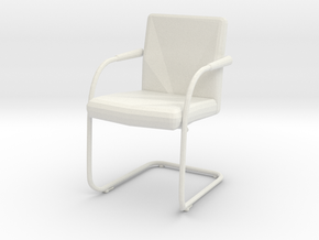 Miniature Visasoft Chair - Antonio Citterio in White Natural Versatile Plastic: 1:12