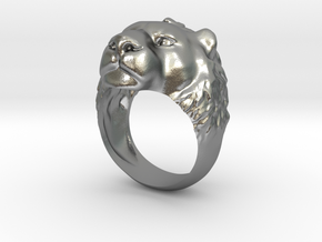 Lion Ring New in Natural Silver: 2 / 41.5