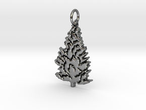 Pine Tree  in Fine Detail Polished Silver