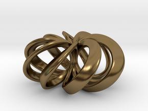 Rosette (smaller) Pendant in Precious Metals in Polished Bronze