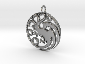 Game Of Thrones Pendant in Natural Silver