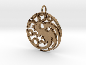 Game Of Thrones Pendant in Natural Brass
