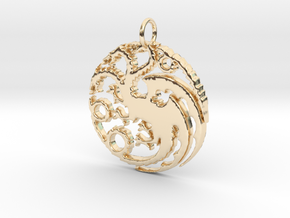Game Of Thrones Pendant in 14K Yellow Gold