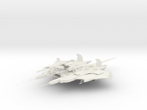 CR Primus Battlecruiser W/Mass Driver Armada Scale in White Natural Versatile Plastic