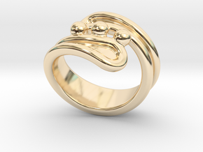 Threebubblesring 20 - Italian Size 20 in 14K Yellow Gold