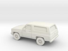 1/87 1980-88 Chevrolet Blazer in White Natural Versatile Plastic