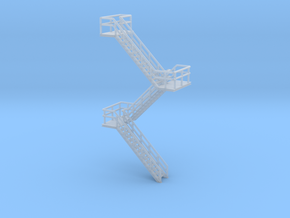N Scale Staircase H60.4mm in Frosted Ultra Detail