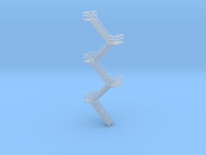 N Scale Staircase H99.6mm in Smooth Fine Detail Plastic