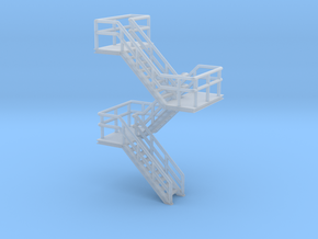 N Scale Staircase H35.2mm in Smooth Fine Detail Plastic