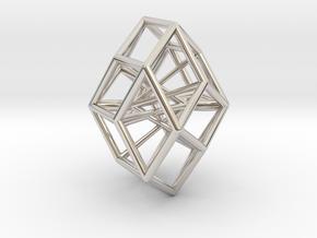 Rhombic Icosahedron Pendant in Platinum