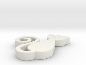 Cat Toy in White Natural Versatile Plastic