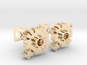 LK Cufflinks in 14k Gold Plated Brass