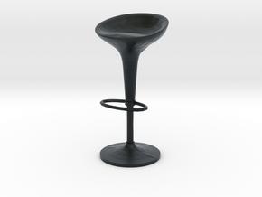 Miniature Bombo Stool - Stefano Giovannoni in Black Hi-Def Acrylate: 1:12