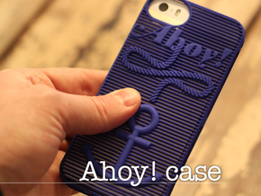 Ahoy! - case for iPhone 5/5s in Blue Strong & Flexible Polished