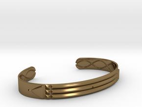Atlantis Cuff Bracelet in Polished Bronze: Small