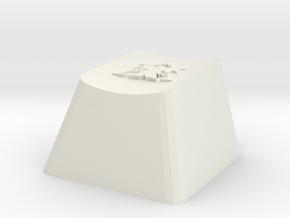 Starcraft Terran Cherry MX Keycap in White Natural Versatile Plastic
